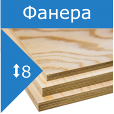 Фанера ФК береза, сорт 4/4 Н.Новгород 8мм 1525*1525